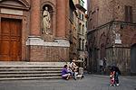 San Cristoforo, kerk in Siena, Toscane, Italië; San Cristoforo, church in Siena, Tuscany, Italy.