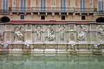 Fonte Gaia, Siena, Toscane, Italië; Fonte Gaia, Siena, Tuscany, Italy