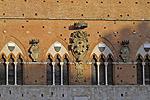 Palazzo Pubblico, Il Campo, Siena, Toscane, Italië; Siena, Tuscany, Italy