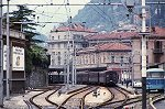 Station Como; Como railway station, Lombardy. Italy