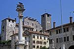 Piazza Maggiore, Feltre (BL, Veneto, Italië); Piazza Maggiore, Feltre (BL, Veneto, Italy)
